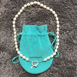 Tiffany & Co Open Heart Pearl Necklace